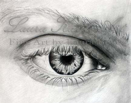 Custom 4x6 Eye Drawing