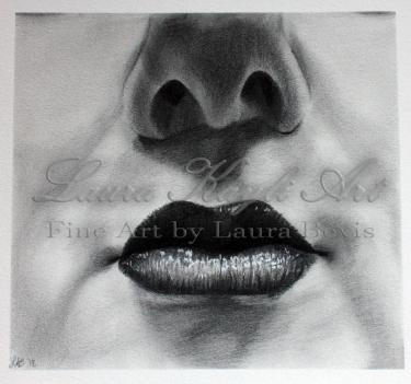 """""""Lip Study in Graphite"""""""