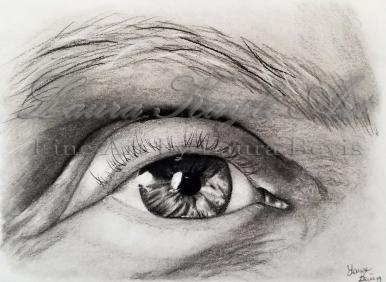 Charcoal eye study
